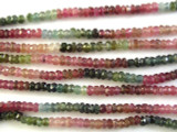 Tourmaline Small Rondelle Gemstone Beads 3mm (GS2880)