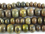 Autumn Jasper Graduated Rondelle Gemstone Beads 9-19mm (GS2944)