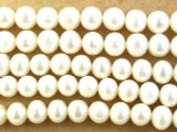 Ivory Round Pearl Beads 5-7mm (PRL120)