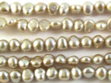 Silver Irregular Pearl Beads 5mm (PRL126)