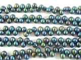 Teal Metallic End-Drilled Pearl Beads 7mm (PRL103)