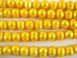 Marigold Metallic Potato Pearl Beads 9-11mm (PRL113)
