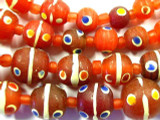 Red 'Eye' Graduated Glass Beads 4-19mm (JV795)