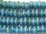 Transparent Aqua Fiesta Glass Beads 11mm (JV840)
