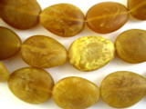 Toffee Brown Teardrop Resin Beads 35mm (RES495)