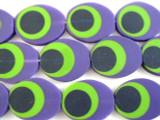 Purple, Green & Black Resin Beads 30mm (RES464)