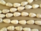 Natural Magnesite Teardrop Gemstone Beads 17mm (GS2643)