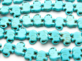 Turquoise Magnesite Elephant Gemstone Beads 19mm (GS2646)