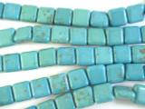 Turquoise Magnesite Square Beads 12mm (GS2648)