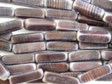 Purple Rectangular Block Recycled Glass Beads 30mm - Indonesia (RG530)
