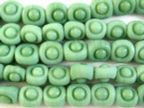 Celadon Green Roundish Glass Beads 10mm (JV855)