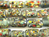 Speckled Block Glass Beads 17mm (JV910)