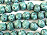 Green Round Glass Beads 10mm (JV914)