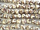 Purple & White Marbled Recycled Glass Beads - Africa 12mm (RG539)
