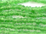 Green Tulip Recycled Glass Beads - Africa 7mm (RG544)