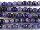 Purple Faceted Round Agate Beads 12mm (GS2690)