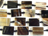 Natural Rectangular Tabular Agate Gemstone Beads 30mm (GS2708)