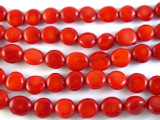 Red Bamboo Coral Round Tabular Beads 6-12mm (CO510)
