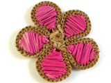 Woven Pink Flower Pendant 43mm (WVP10)