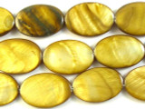 Golden Oval Tabular Shell Beads 29mm (SH467)