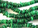 Green Irregular Disc Shell Beads 6-8mm (SH469)