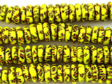 Ashanti Yellow & Black Glass Disc Beads 12mm (AT7005)
