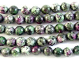 Ruby Zoisite Faceted Round Gemstone Beads 7-8mm (GS2962)