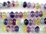 Rainbow Fluorite Rondelle Gemstone Beads 7-8mm (GS2966)