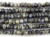 Gray Opal Faceted Rondelle Gemstone Beads 6mm (GS2973)