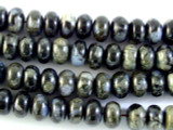 Gray Opal Rondelle Gemstone Beads 10mm (GS2977)