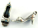 High Heel Shoe - Pewter Pendant (PW1111)