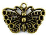 Brass Butterfly - Pewter Pendant 25mm (PW1112)