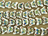 Cloisonne Beads - White Butterfly 7mm (CS247)