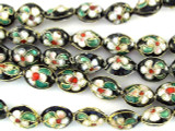 Cloisonne Beads - Black Oval 10mm (CS248)