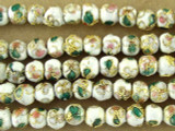 Cloisonne Beads - White Round 5mm (CS251)