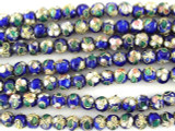 Cloisonne Beads - Cobalt Blue Round 5mm (CS252)