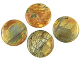 Red Creek Jasper Round Gemstone Pendant 50mm (GSP14)
