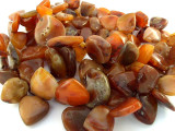 "Old Carnelian Agate Spade Beads - 40"" strand (OS91)"