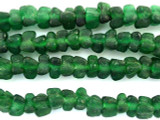 Dark Green Tulip Recycled Glass Beads - Africa 7mm (RG553)