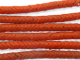 Coral Red Glass Snake Beads 5mm (AT406)