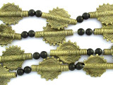 Brass Tabular Baule Beads 23mm (ME5654)
