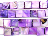 Purple Square Tabular Shell Beads 9mm (SH470)
