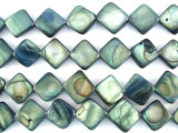 Blue/Gray Diamond Tabular Shell Beads 13mm (SH471)