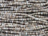 Baby Olive Shell Heishi Beads 2mm - 2 foot strand (SH488)