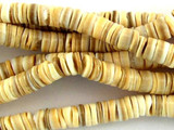 Voluta Shell Heishi Beads 4-5mm - 2 foot strand (SH490)