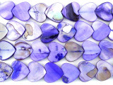 Purple Heart Shell Beads 12mm (SH502)