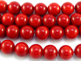 Red Bamboo Coral Round Beads 10mm (CO522)