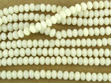 White Bamboo Coral Rondelle Beads 2mm (CO525)
