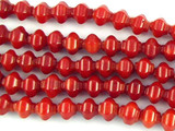 Red Bamboo Coral Lantern Beads 6mm (CO528)