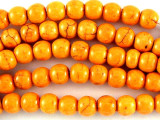 Orange Round Magnesite Gemstone Beads 5mm (GS3030)